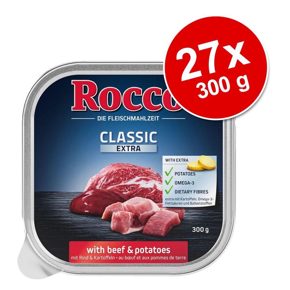 Megapakiet Rocco Classic Extra tacki, 27 x 300 g - Kurczak z ryżem