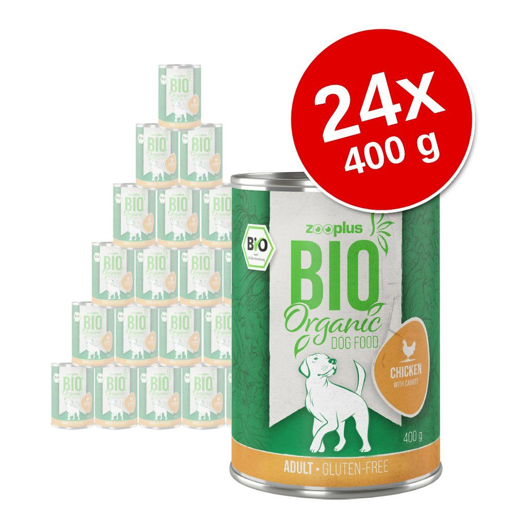 24x400g zooplus bio canard, patates douces, courgettes - Pâtée pour chien