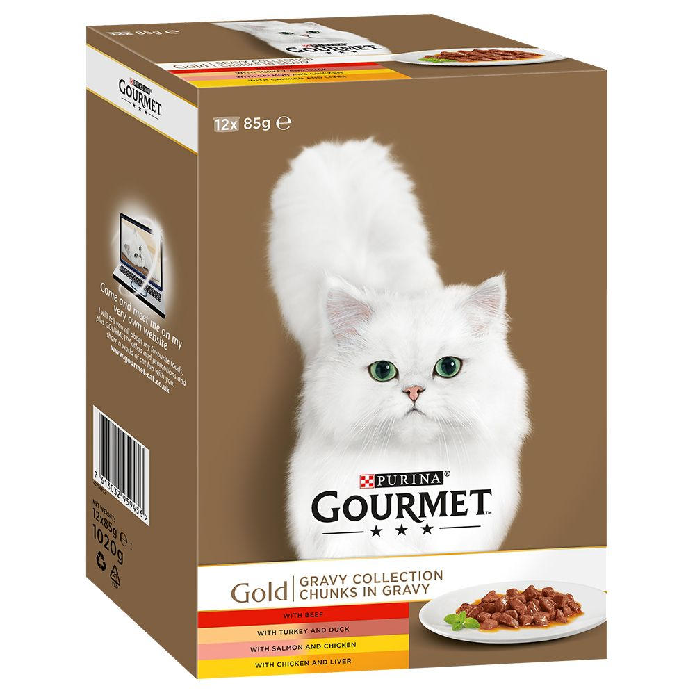 Gravy Collection Mixed Packs Saver Pack Gourmet Gold Wet Cat Food