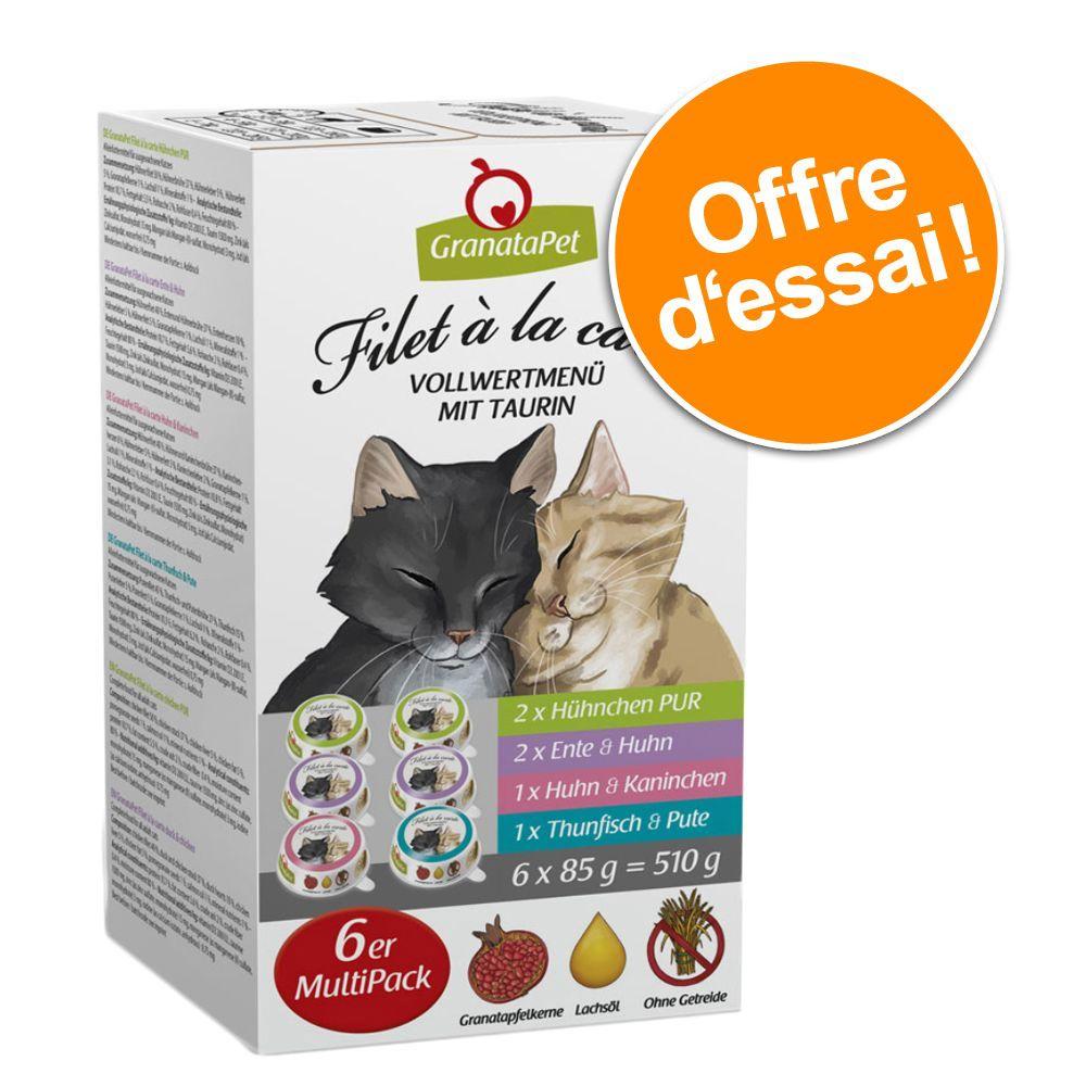 6x85g 4 variétés Filet à la carte Granatapet - Nourriture pour Chat