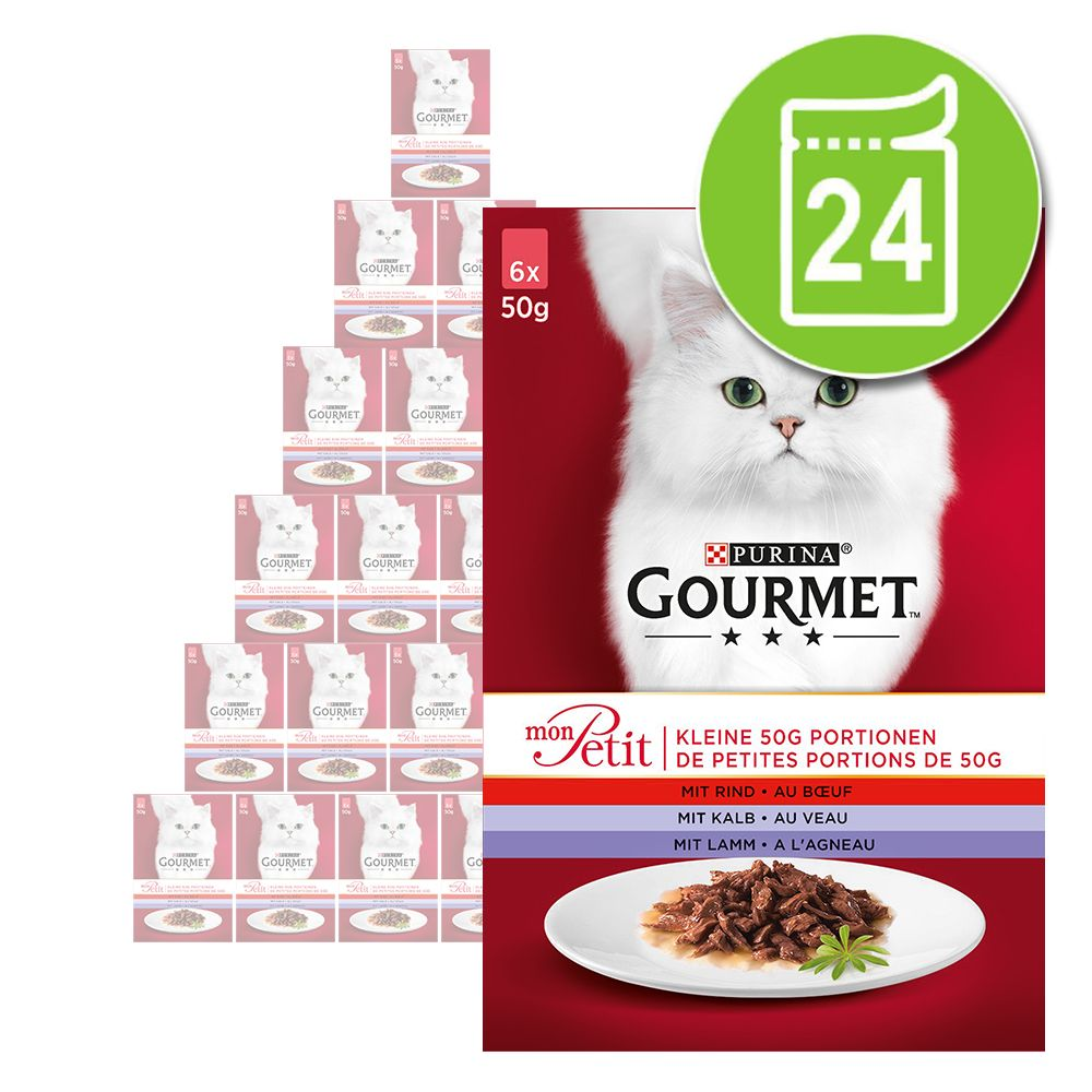 Ekonomipack: Gourmet Mon Petit 24 x 50 g - Kött