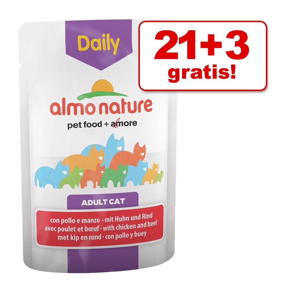 21 + 3 gratis! Almo Natur
