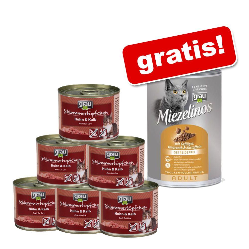 6 x 200 g Grau Schlemmertöpfchen + 135 g Grau M...