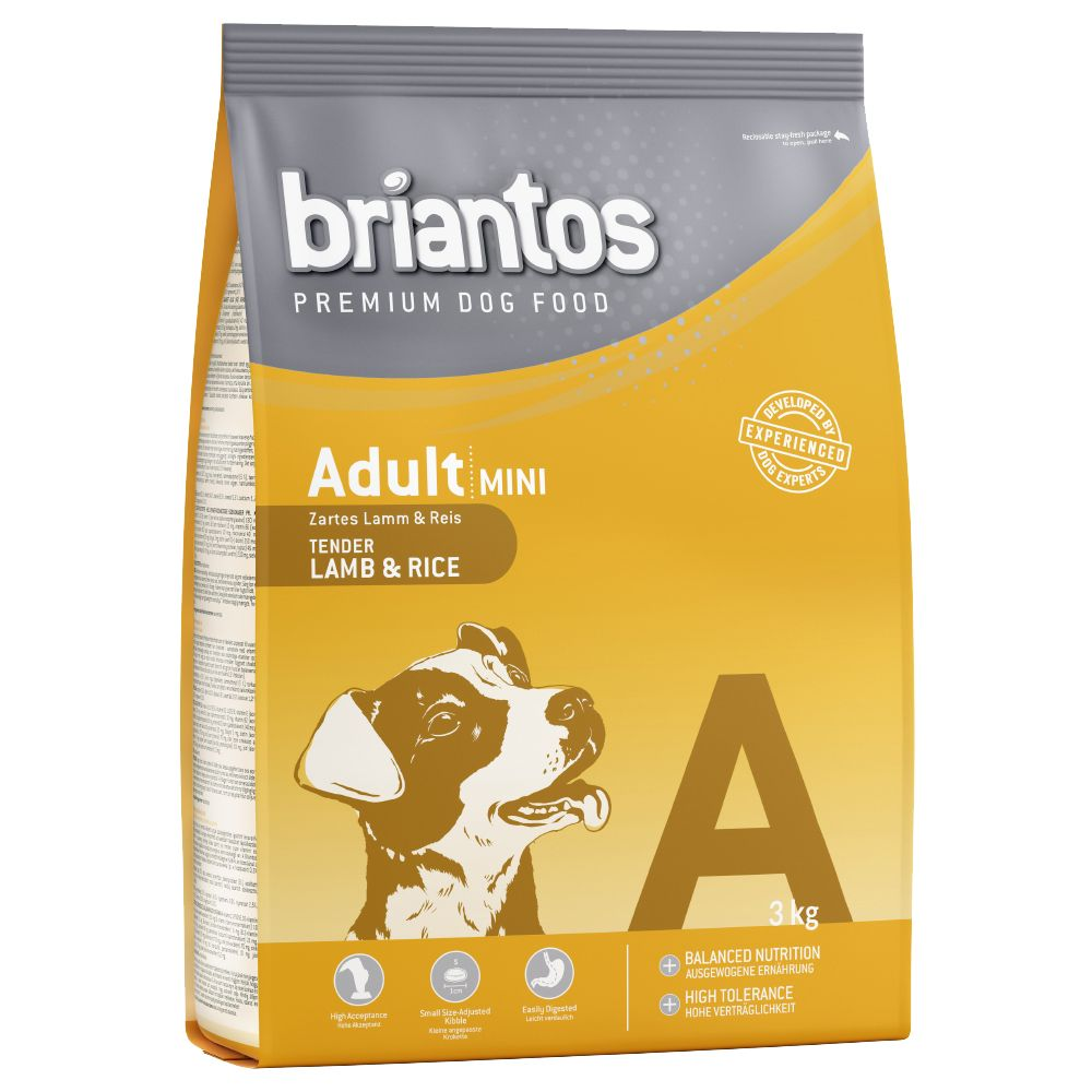 Briantos Adult Mini Lamb & Rice - Economy Pack: 3 x 3kg