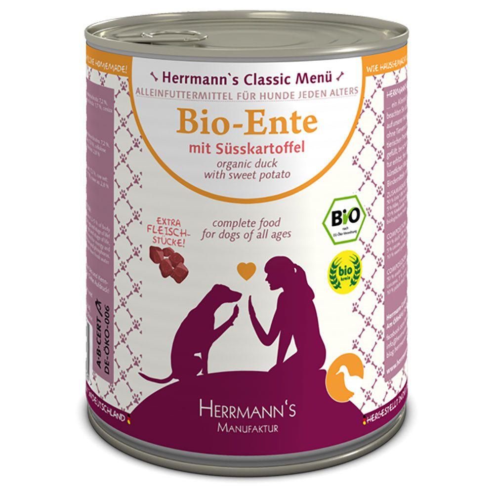 12x800g Organic Chicken with Rice Gluten Free Herrmann's Menu Saver Wet Dog Food