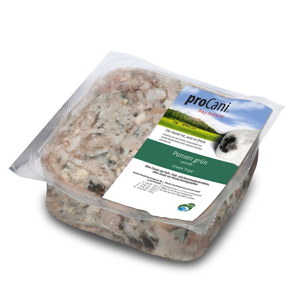 proCani Green Beef Tripe Raw Dog Food