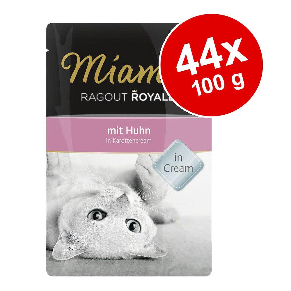 Ekonomipack: Miamor Ragout Royale i Cream 44 x 100 g - Lax i yoghurtcrème