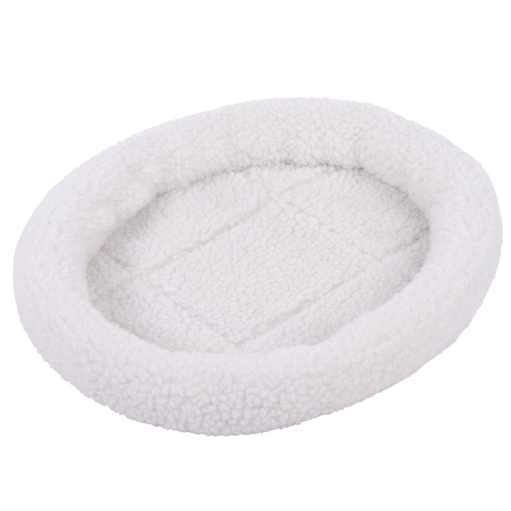 Cosy 2-in-1 Pet Bed - White / Light Grey - 48 x 40 x 8 cm (L x W x H)