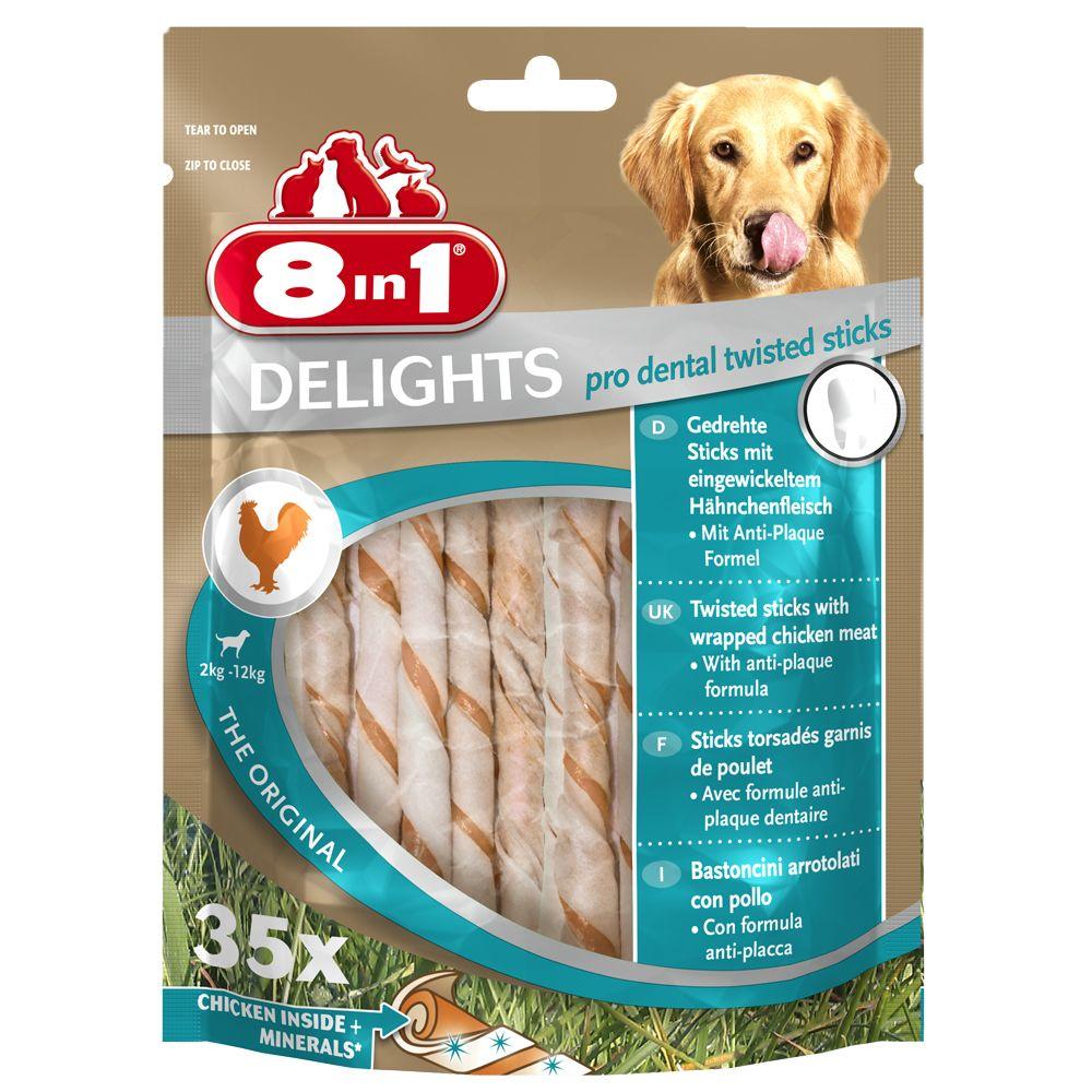 8in1 Delights Pro Dental Twisted Sticks Huhn - 190 g (35 Stück)