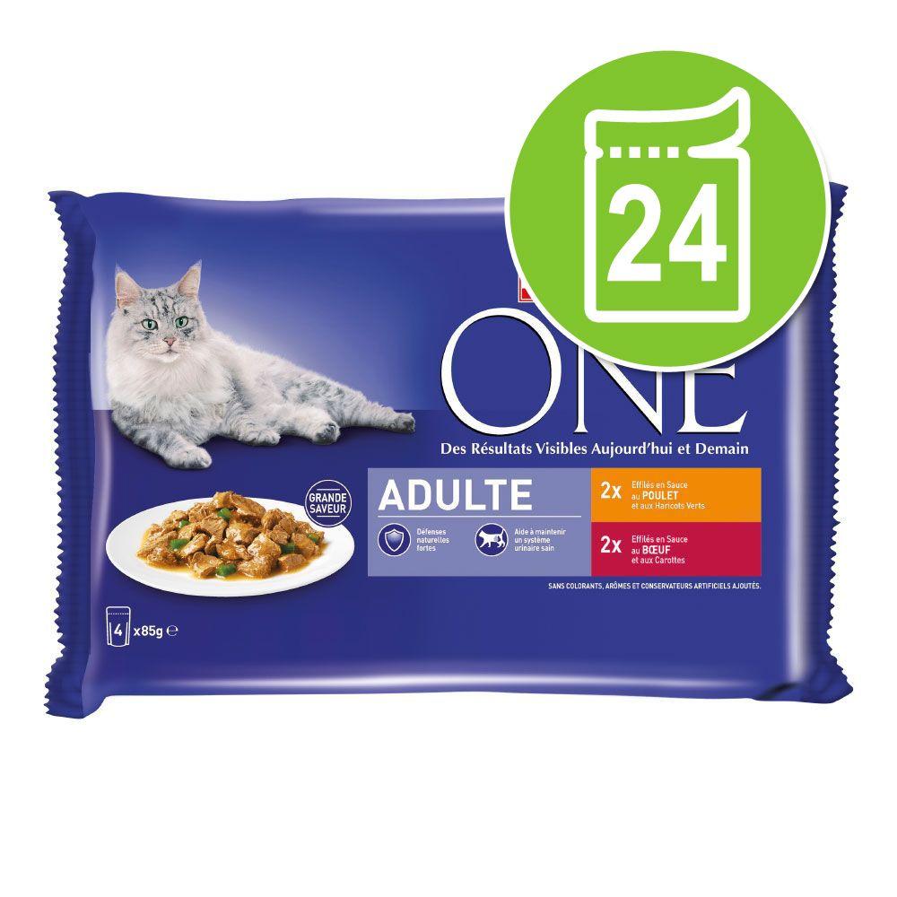24x85g Chat d'Intérieur thon veau PURINA ONE - Nourriture pour chat