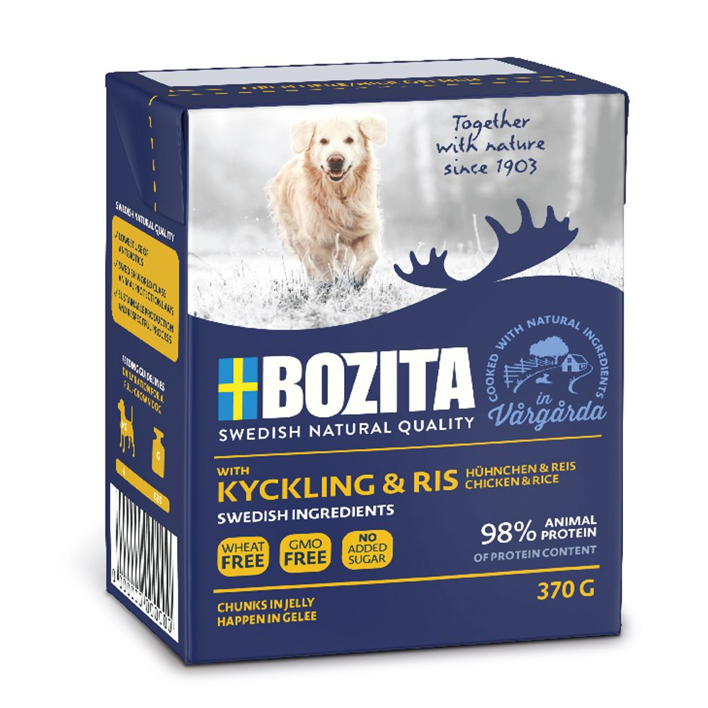 12x370g Salmon Chunks in Jelly Bozita Naturals Wet Dog Food