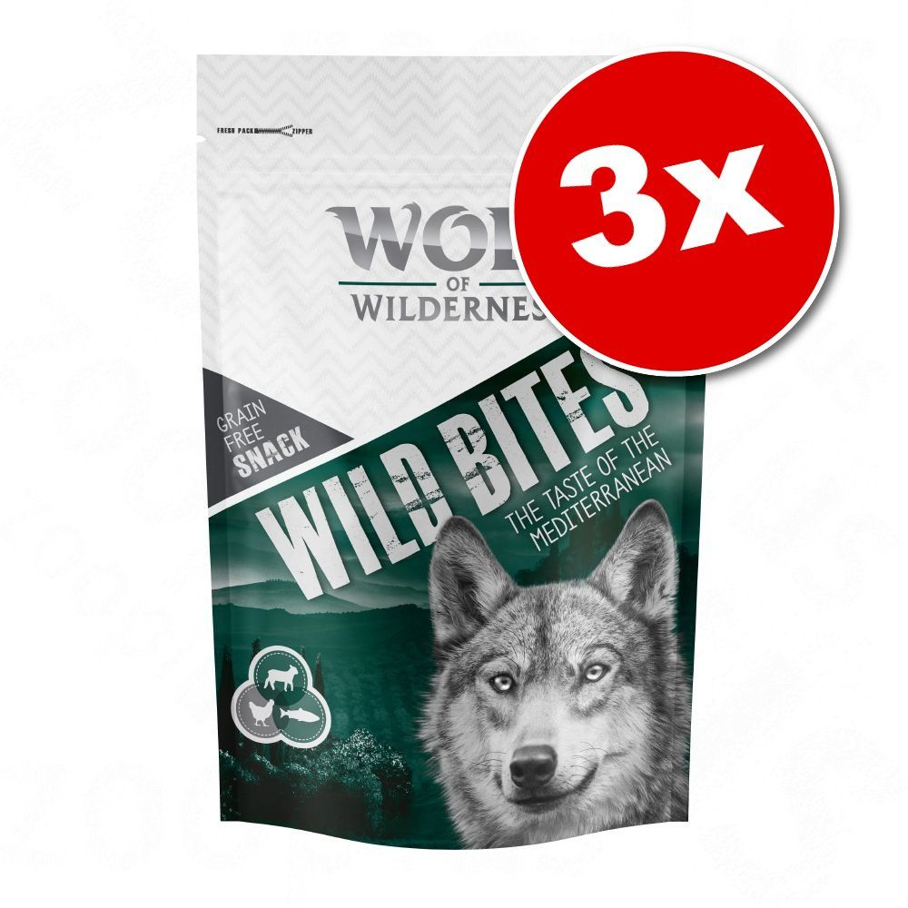 3x180g Bouchées The Taste of Canada Wolf of Wilderness - Friandises pour chien