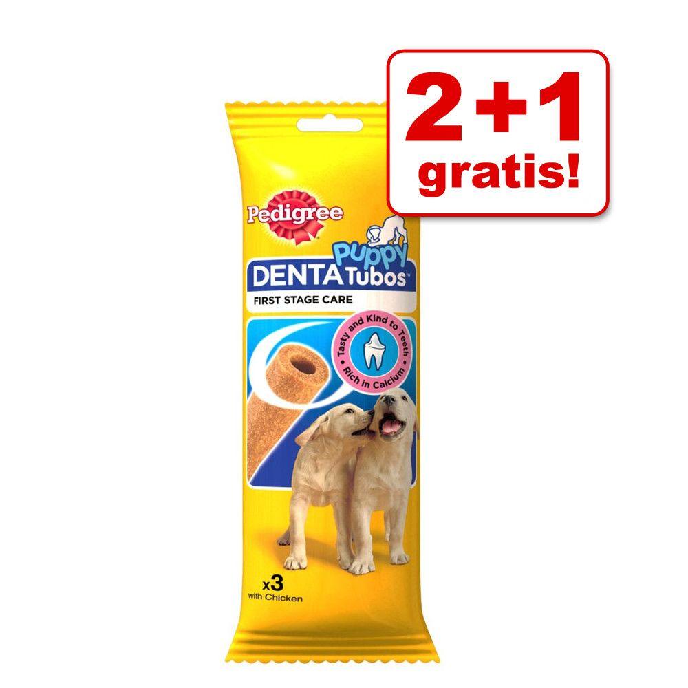 2 + 1 gratis! Pedigree Dentatubos Puppy, 3 sztuki - 3 sztuki