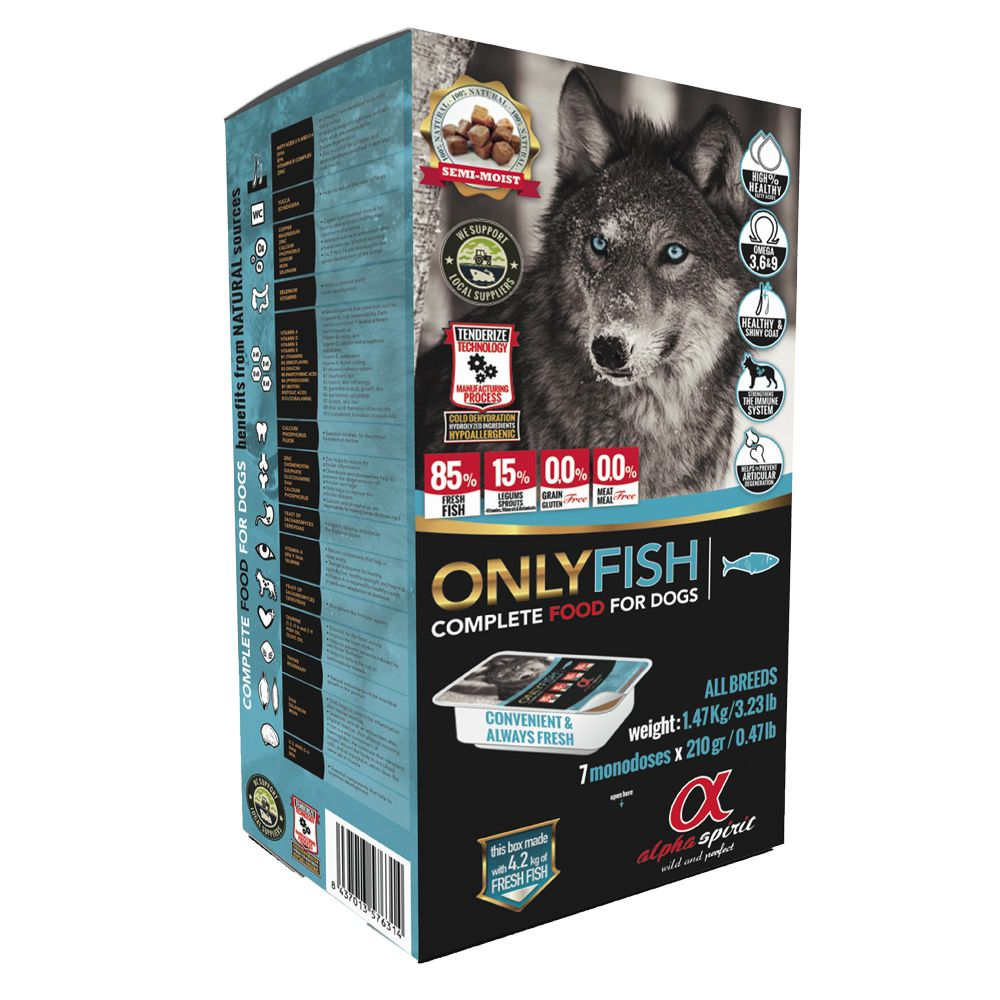 Alpha Spirit Fish Dog Food - 9.45kg