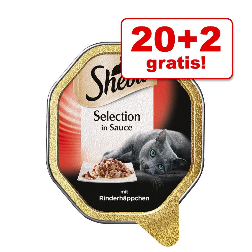 18 + 4 gratis! 22 x 85 g Sheba Schale - Sauce L...