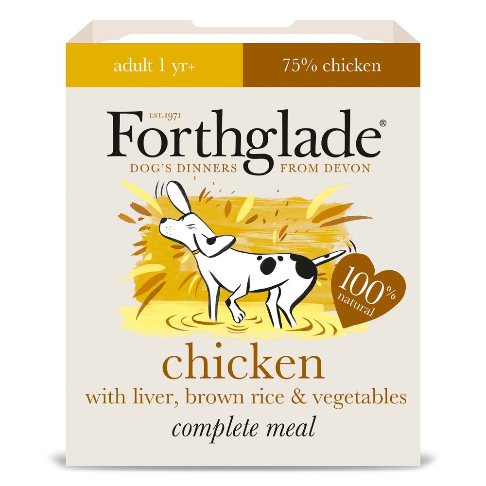 Forthglade Complete Meal Adult Dog - Chicken with Liver - 18 x 395g