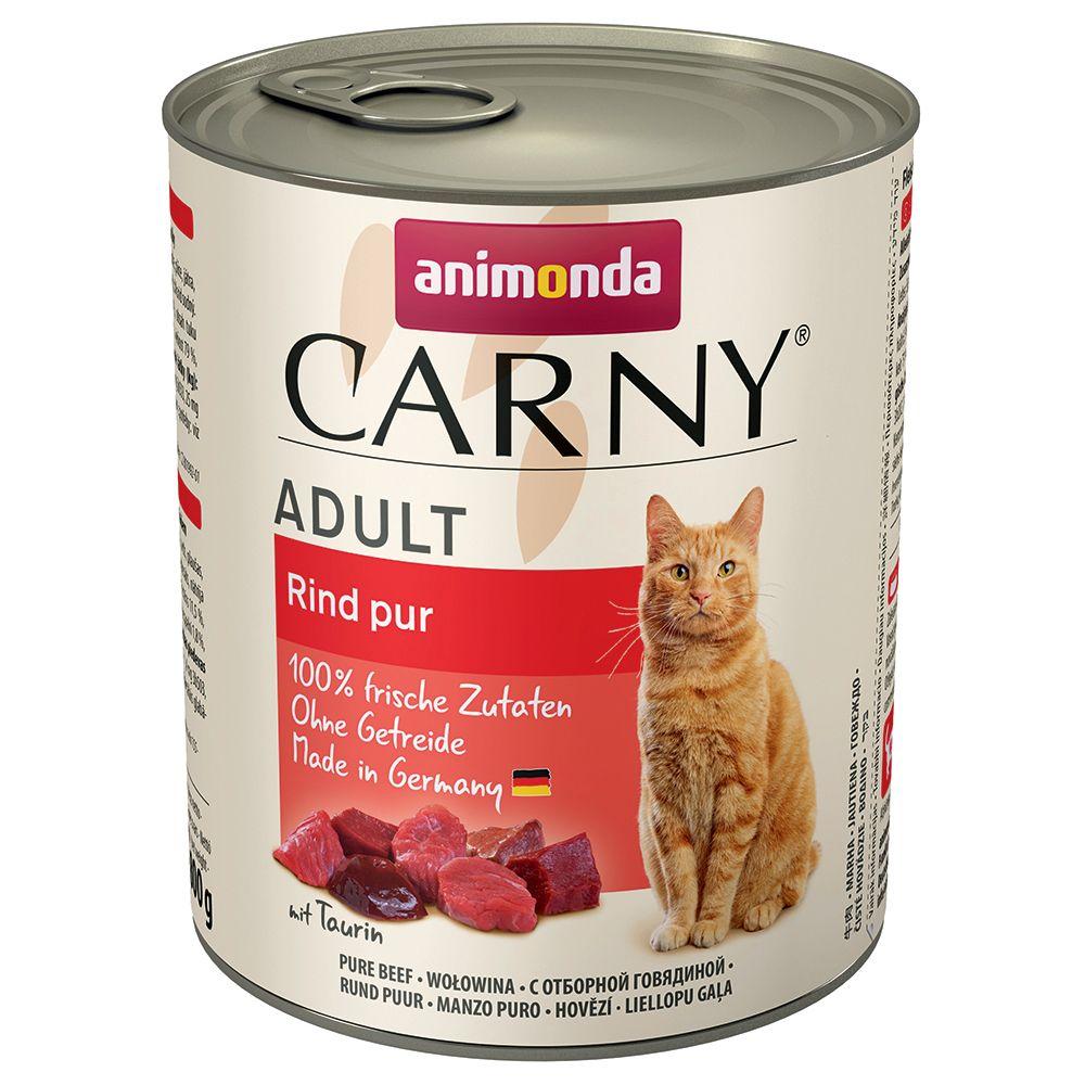 Ekonomipack: Animonda Carny Adult 12 x 800 g - Nötkött