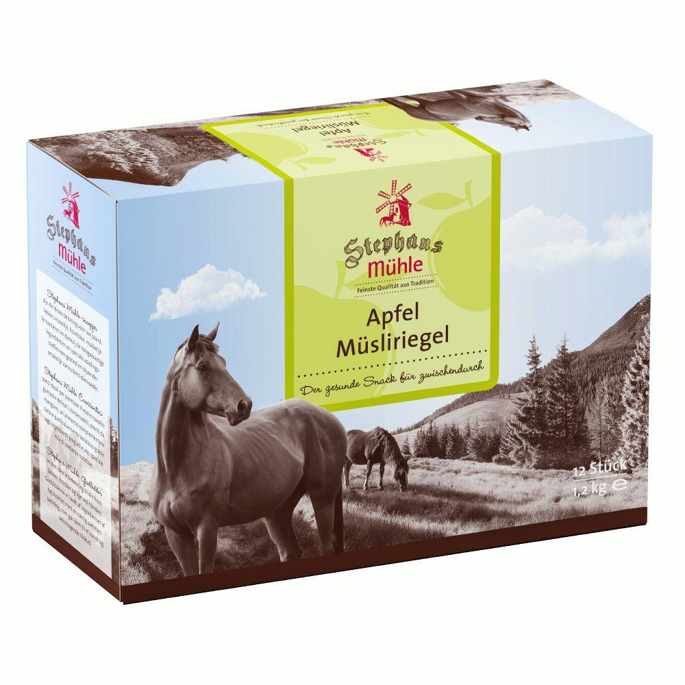 Stephans Mühle Muesli Bars for Horses – Apple - Saver Pack: 24 x 2 Bars