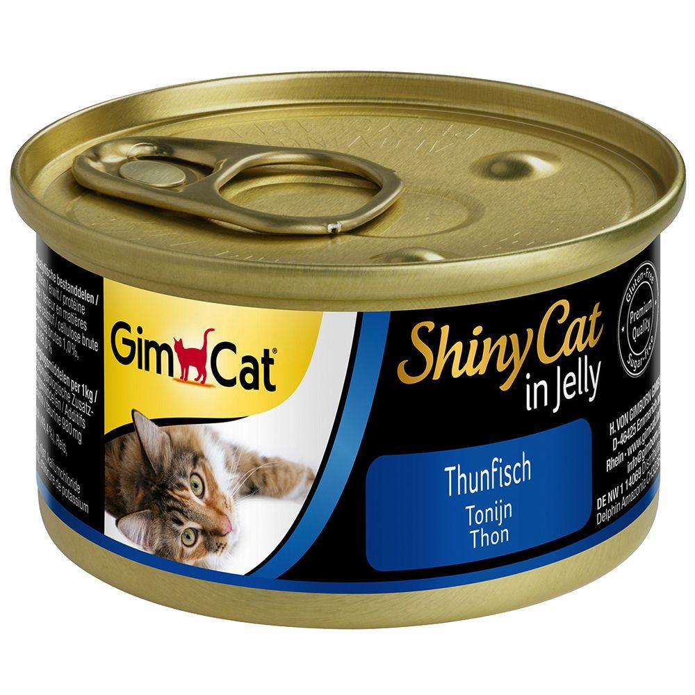 GimCat ShinyCat w galarecie, 6 x 70 g - Tuńczyk i kurczak