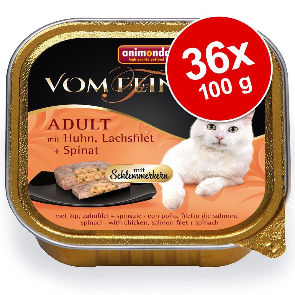 Ekonomipack: Animonda vom Feinsten Adult med gourmetfyllning 36 x 100 g Kalkon, kycklingbröst & örter