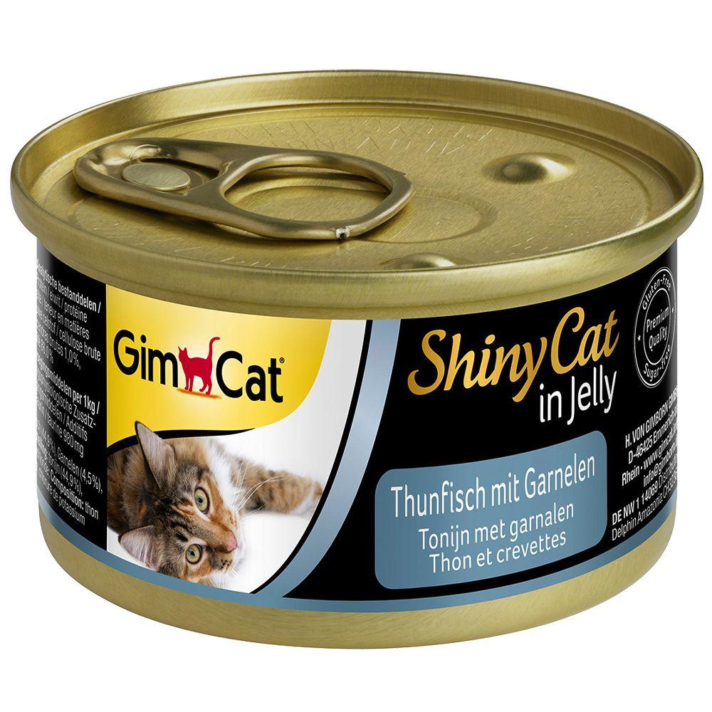 GimCat ShinyCat Jelly 6 x 70 g – Tonfisk & räkor