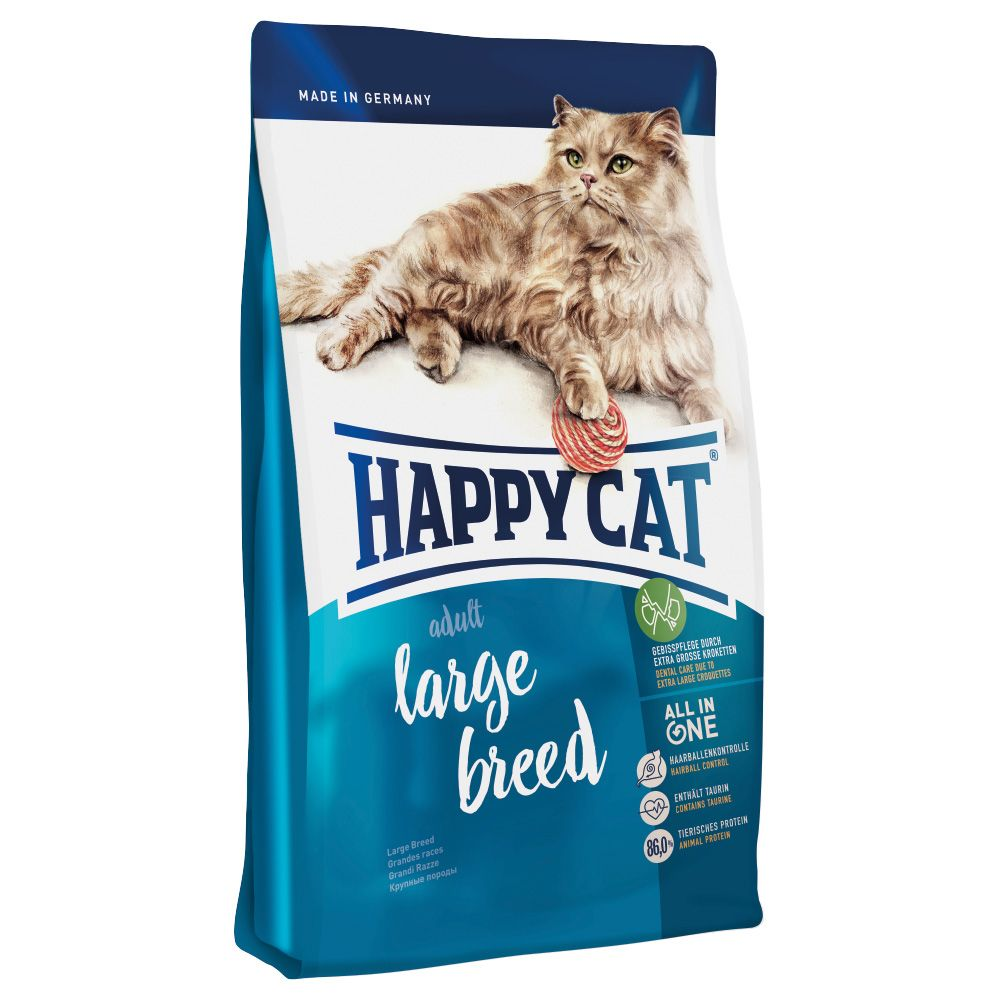 2x10kg Large Breed Adult Happy Cat Dry Food