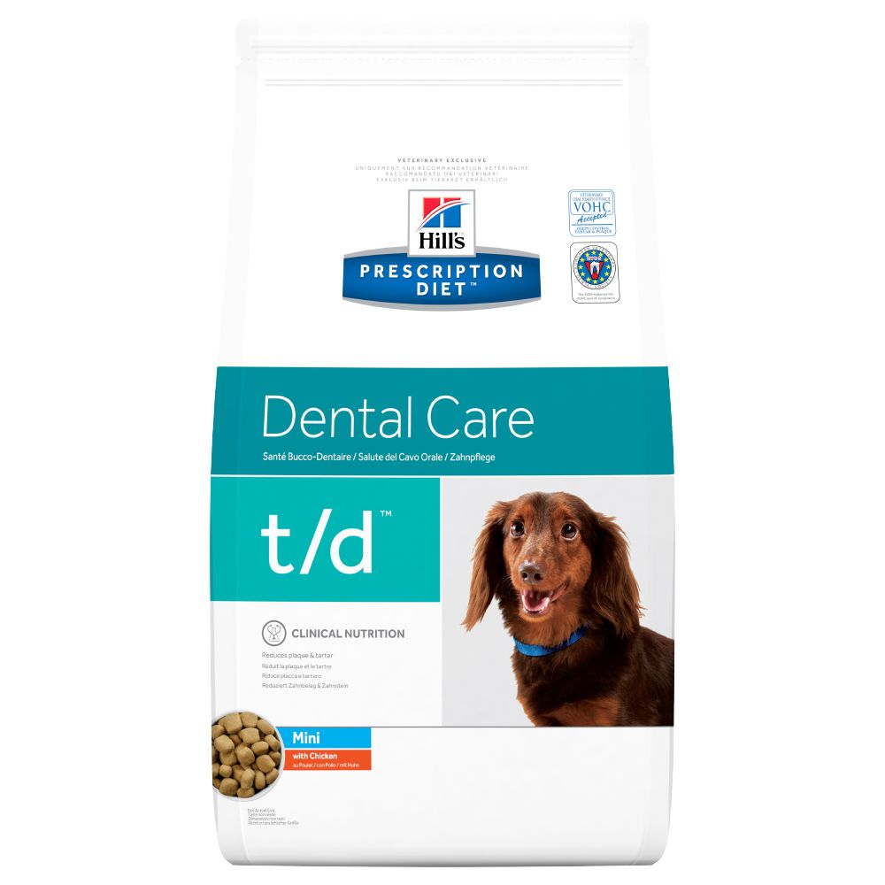 Hill's Prescription Diet t/d Mini Dental Care hundfoder med kyckling - Ekonomipack: 3 x 3 kg