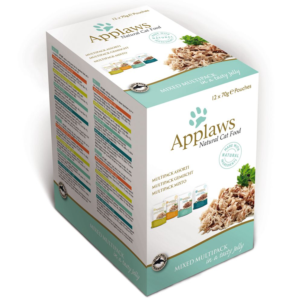 Mixed Selection Pouches in Jelly Applaws Wet Cat food