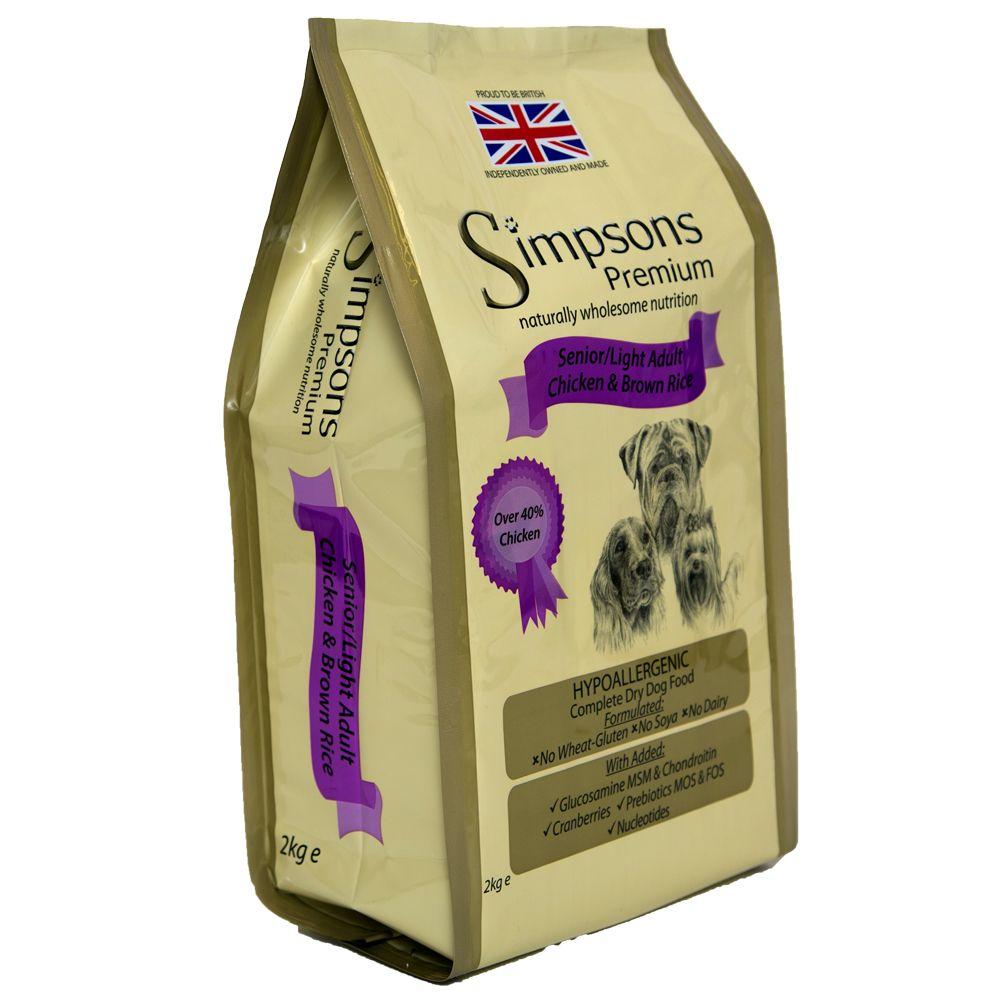 Simpsons Premium Senior/Light Dog - Chicken & Brown Rice - Economy Pack: 2 x 12kg