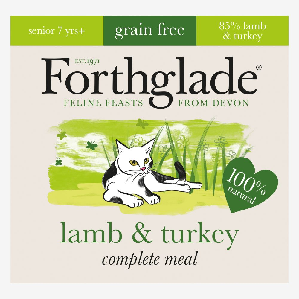 Forthglade Complete Meal Grain-Free Senior Cat - Lamb & Turkey - 12 x 90g