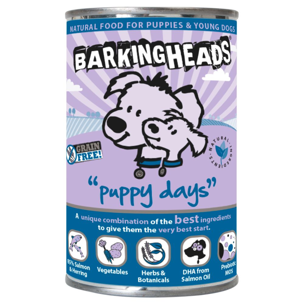 Barking Heads Puppy Days Salmon & Herring Wet Dog Food - 6 x 400g