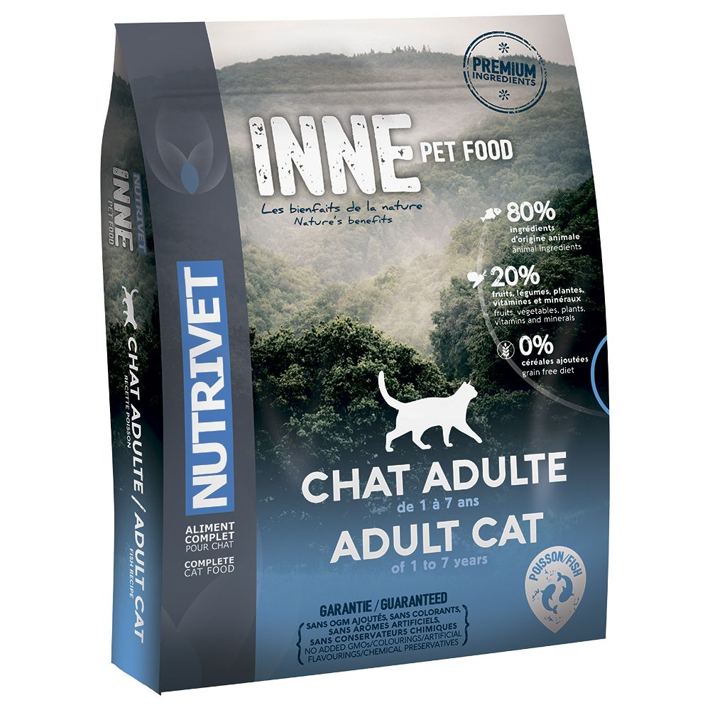 Nutrivet Inne Adult Fish Dry Cat Food - Economy Pack: 2 x 6kg