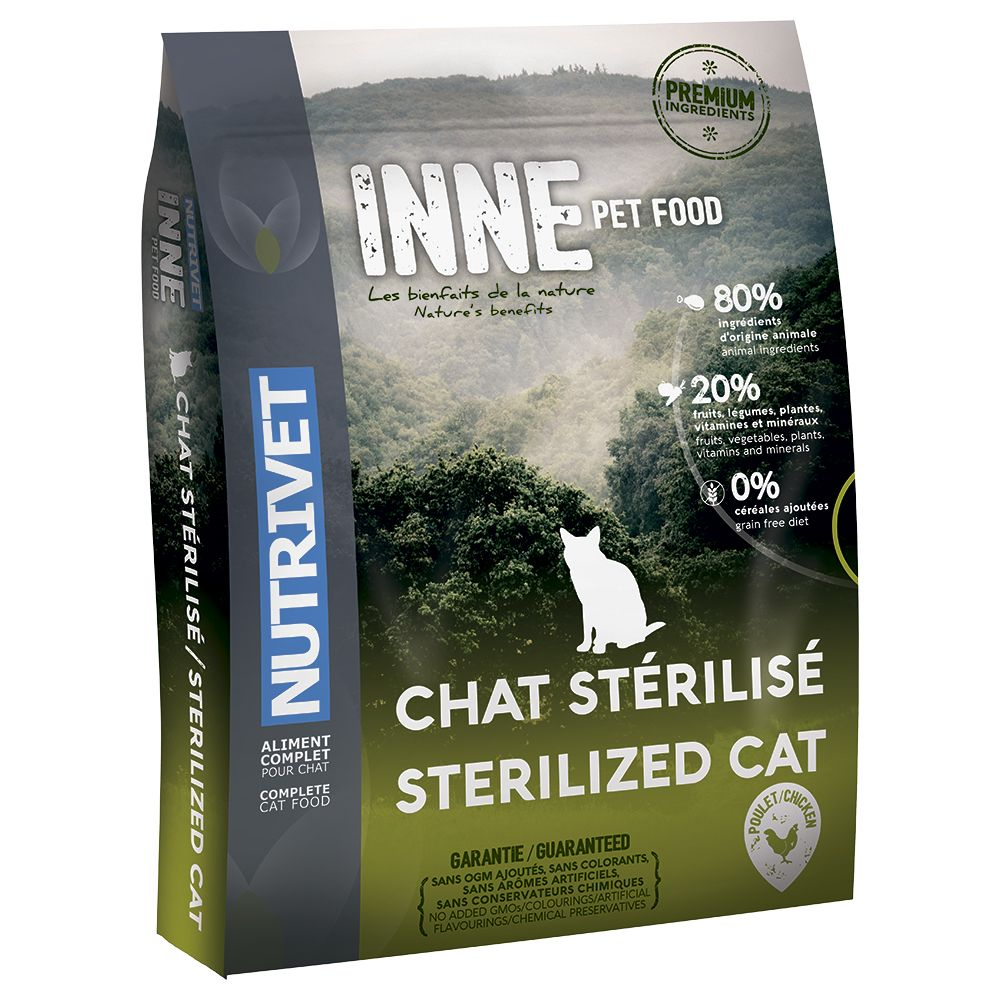 INOpets.com Anything for Pets Parents & Their Pets Nutrivet Inne Sterilised Dry Cat Food - 6kg