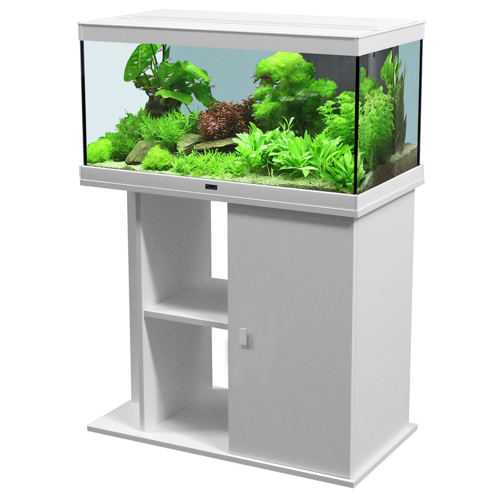 Image of Set acquario + supporto Aquatlantis Style 80 x 35 LED - nero