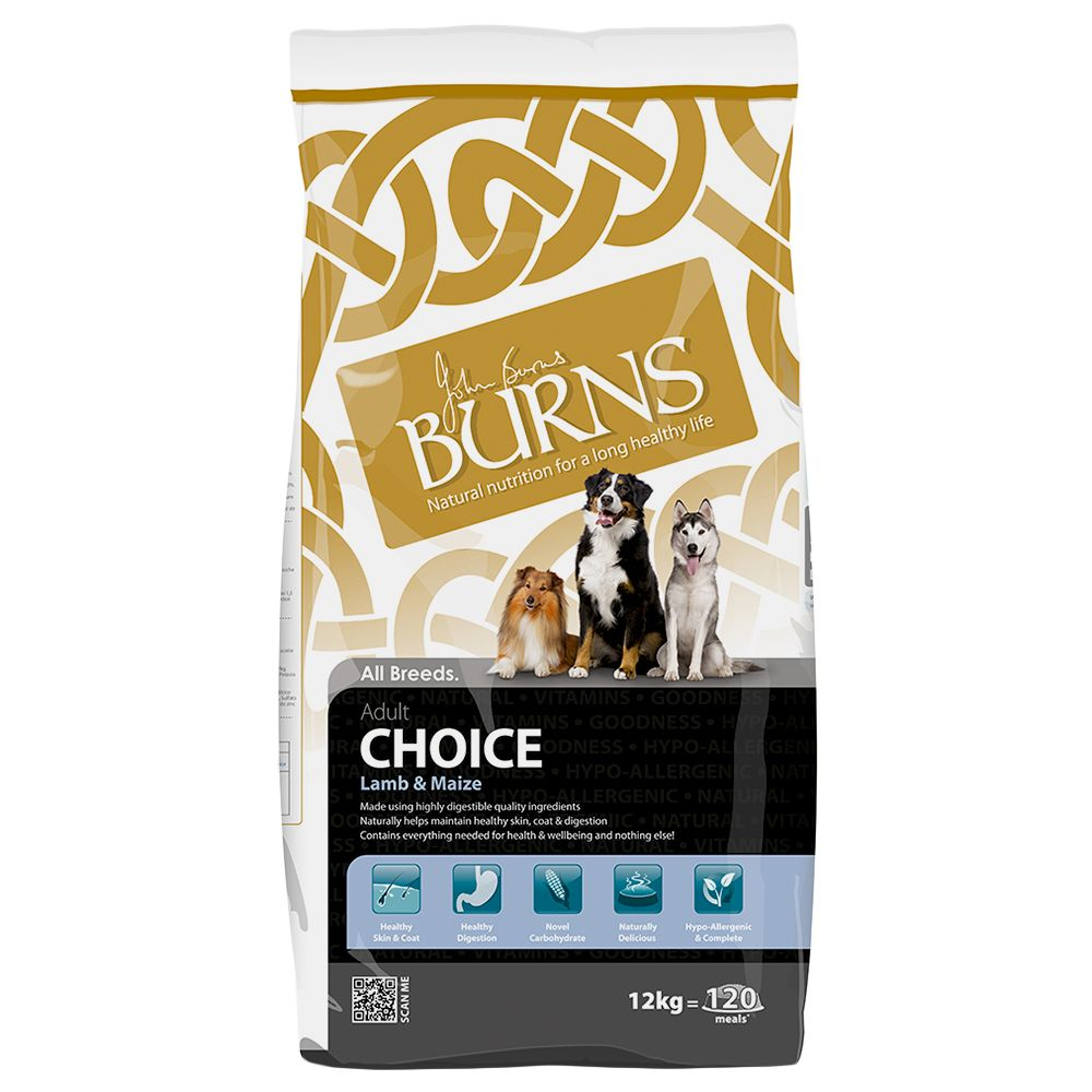 Burns Choice Adult - Lamb & Maize - Economy Pack: 2 x 12kg