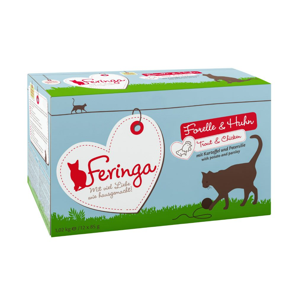12 x 85g Feringa Pouches Wet Cat Food