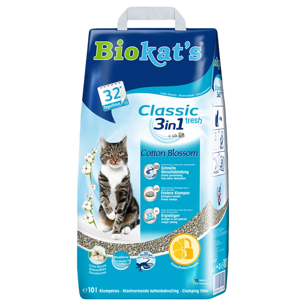 Cotton Blossom Scent 3in1 Classic Fresh Biokat's Cat Litter