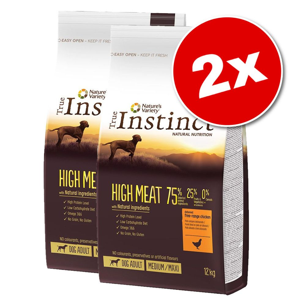 Lot True Instinct pour chien - Raw Boost dinde (2 x 10 kg)