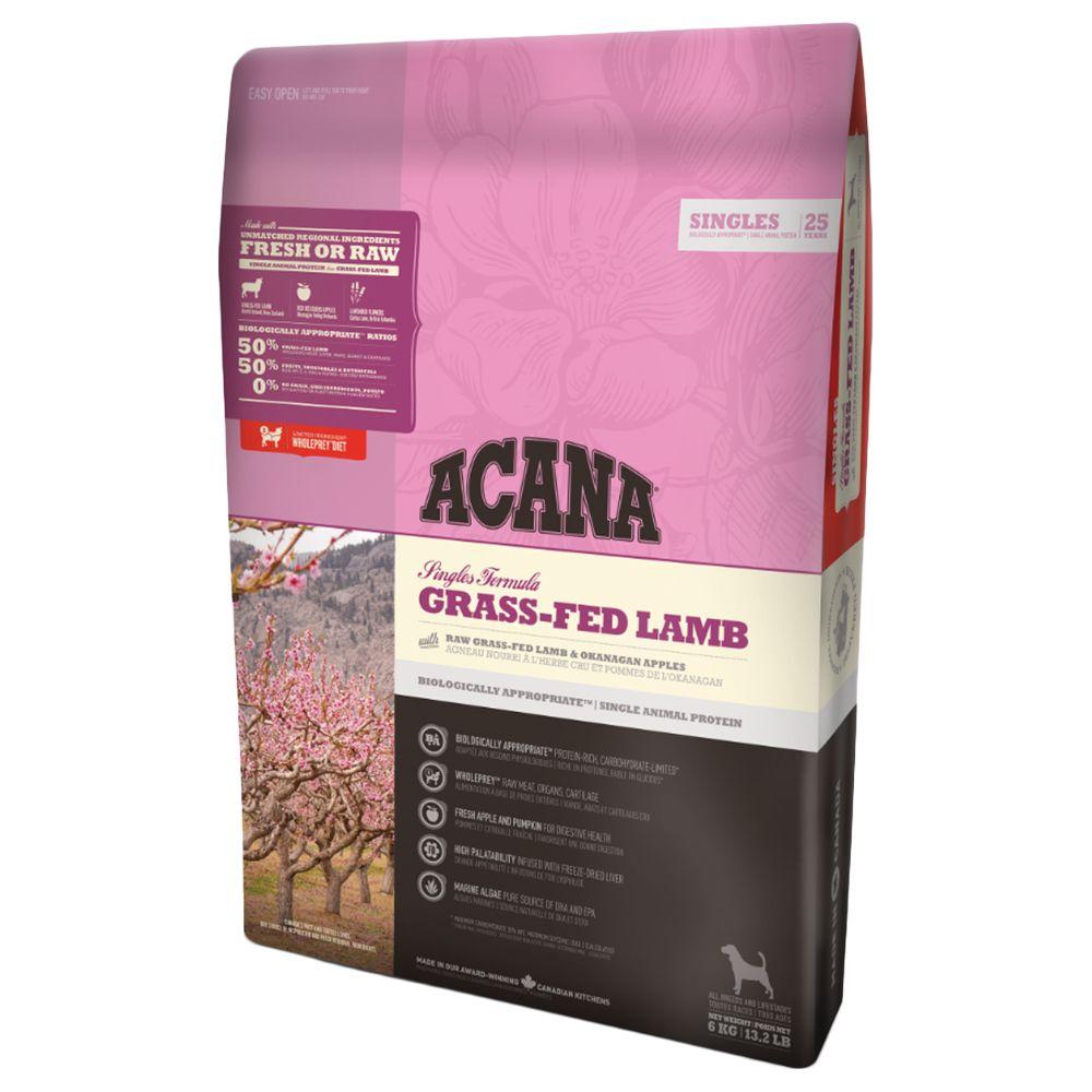 Acana Singles Grass-Fed Lamb Dog hundfoder - 17 kg