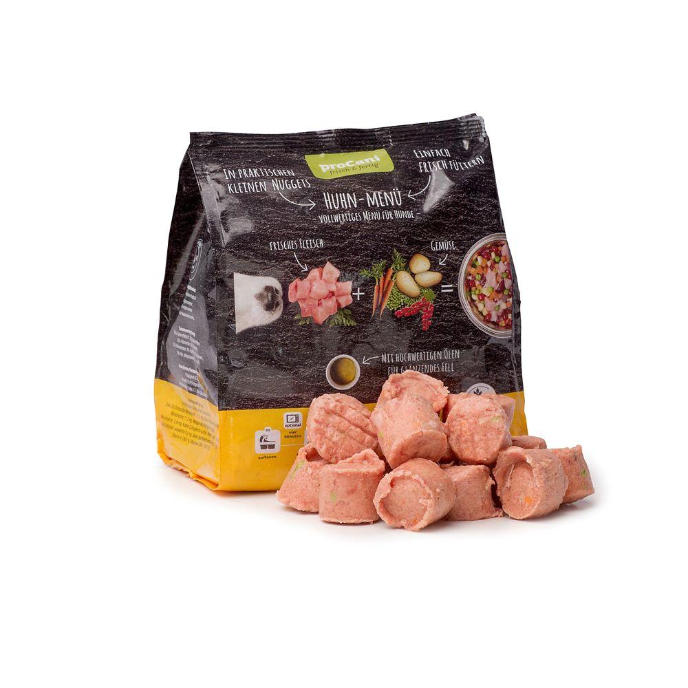 proCani Menu Nuggets - gotowy i świeży posiłek, kurczak - 5 x 480 g