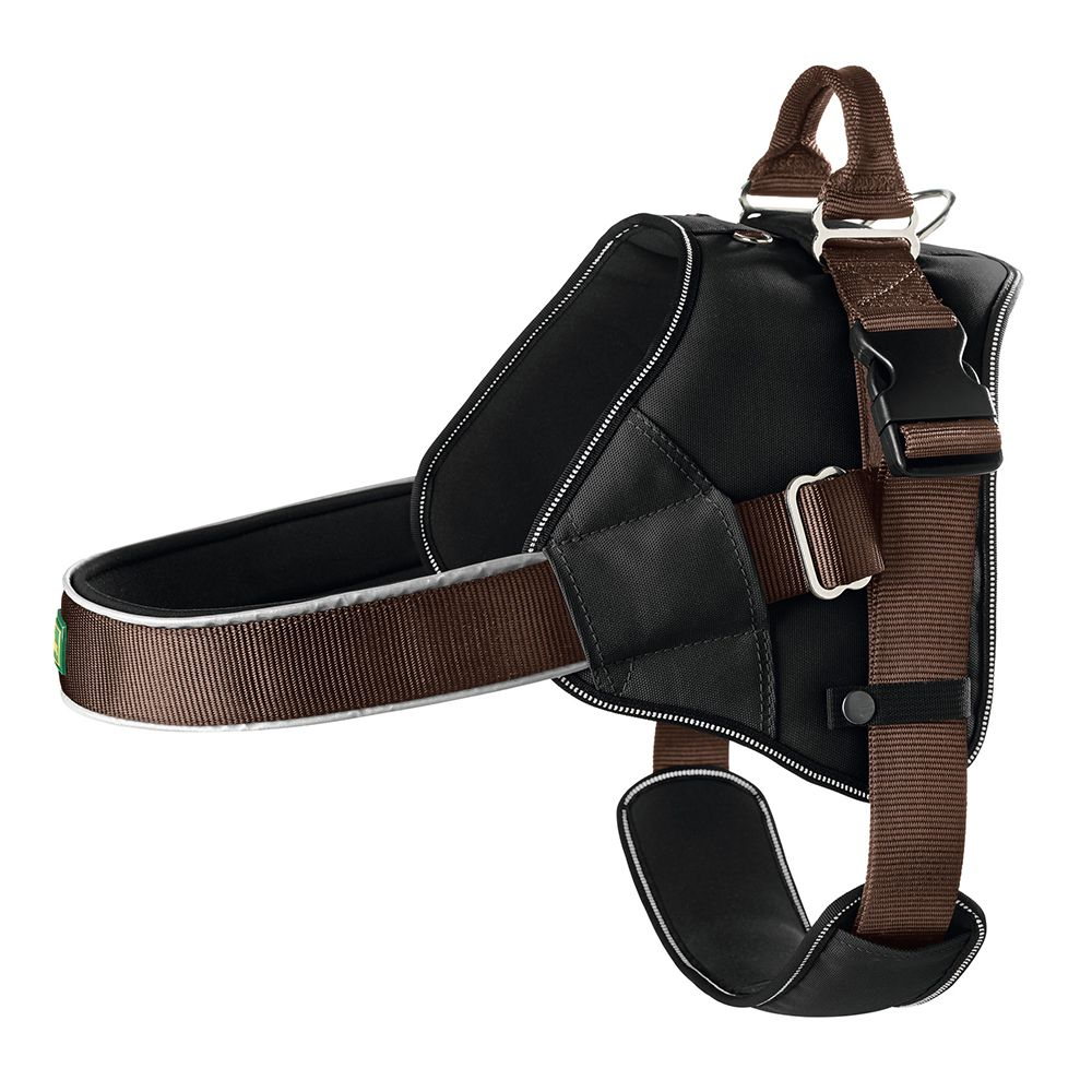 Hunter Neoprene Expert Norwegian Harness - Brown - Size L: 64-100cm chest circumference
