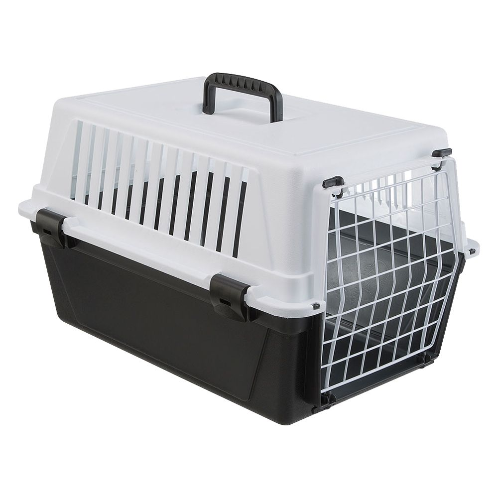 Whether you are on your way to the vet, traveling long distances or on a short trip in the car, the Mappa Transport Box with folding handle is a home away from hom...
