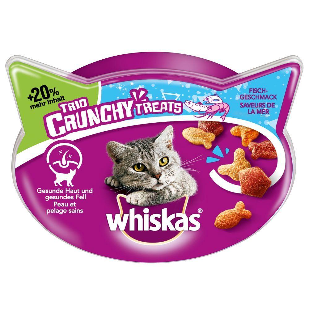 Whiskas Trio Crunchy Treats kattgodis +20 % mer innehåll - Kött 66 g