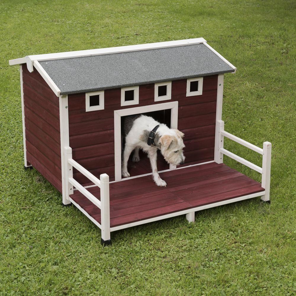 Chien Niche barrière et parc Niche Toit pointu Niche avec terrasse pour chien