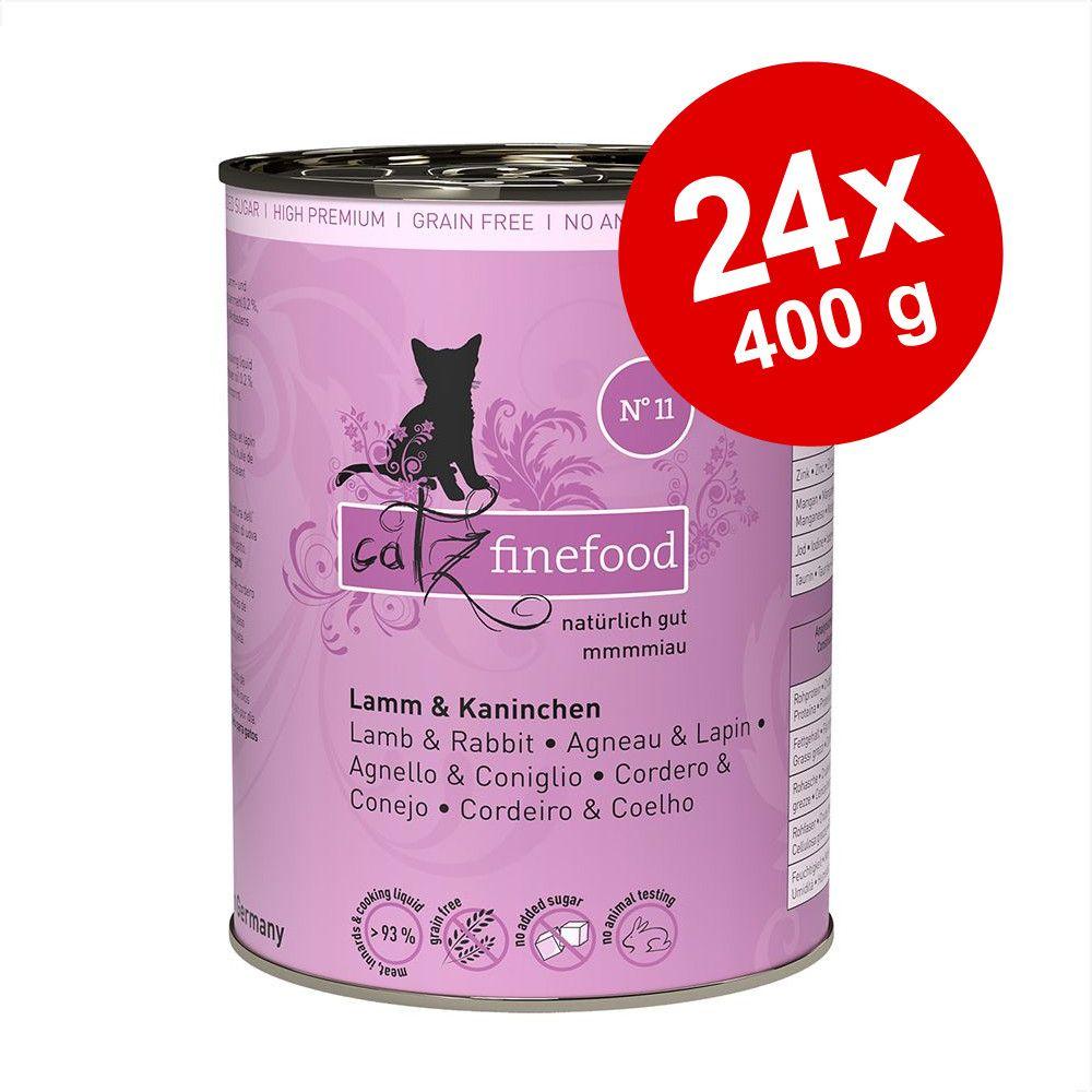 Lot catz finefood 24 x 400 g pour chat - agneau, lapin