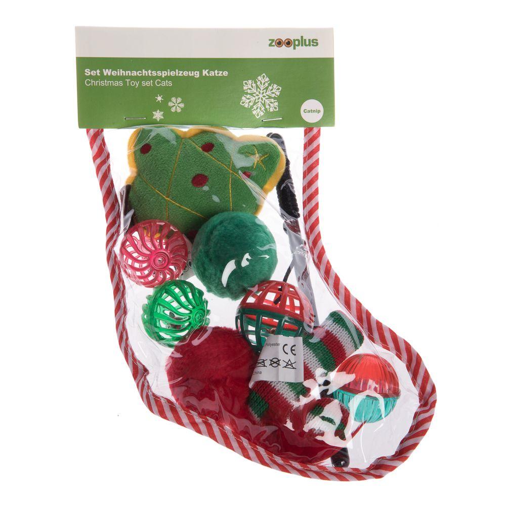 Julset med kattleksaker - 8 delar