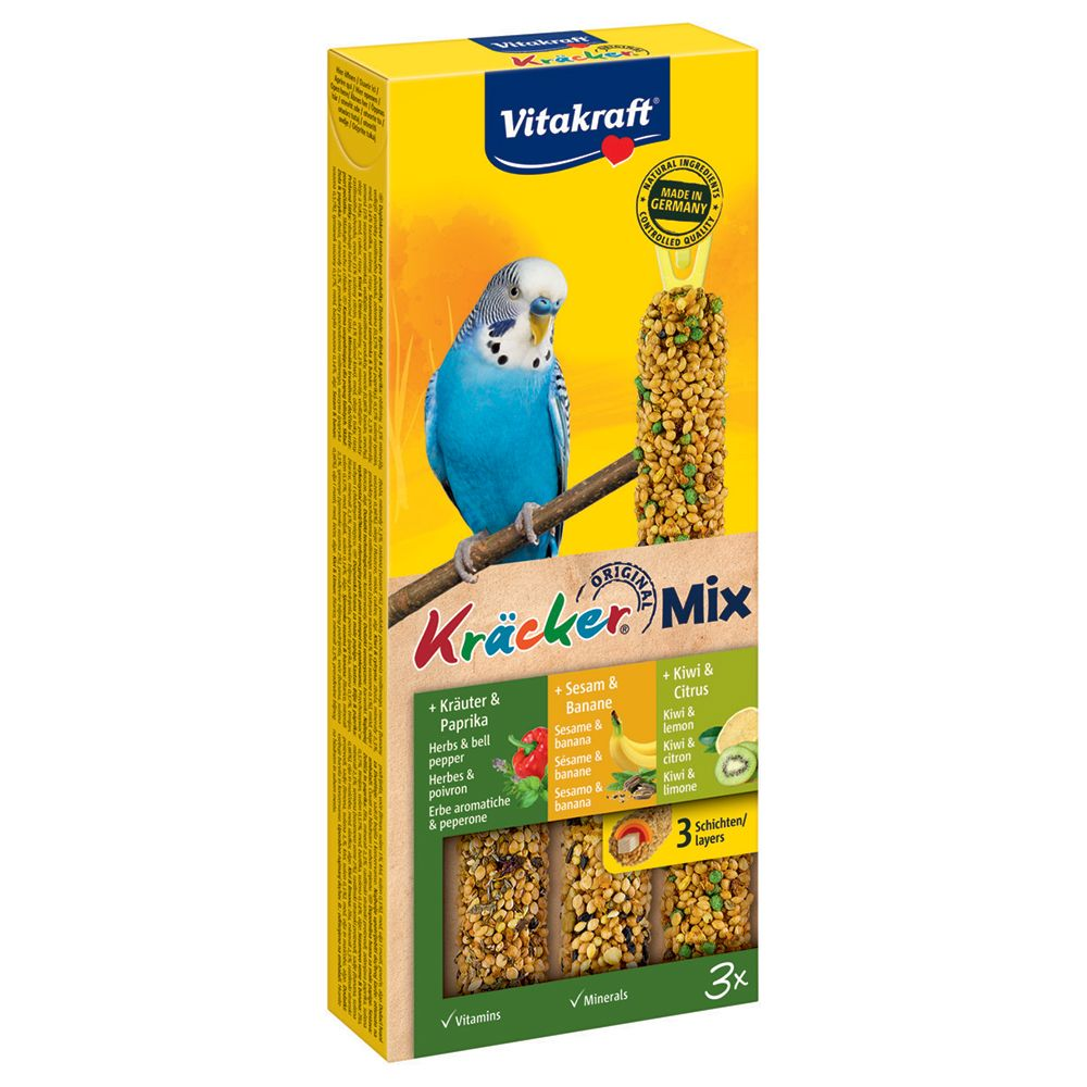 Vitakraft Budgies Crackers Seeds/Herbs/Kiwi