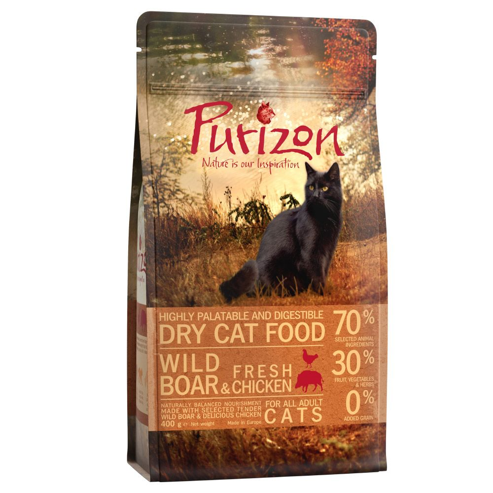 4 x 400g Purizon Adult Dry Cat Food