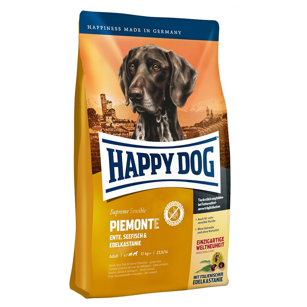 An innovative world debut! This Happy Dog Supreme Sensible Piedmont complete dry dog food is made with Italian chestnuts. It is an exquisite dish that is ideal for...