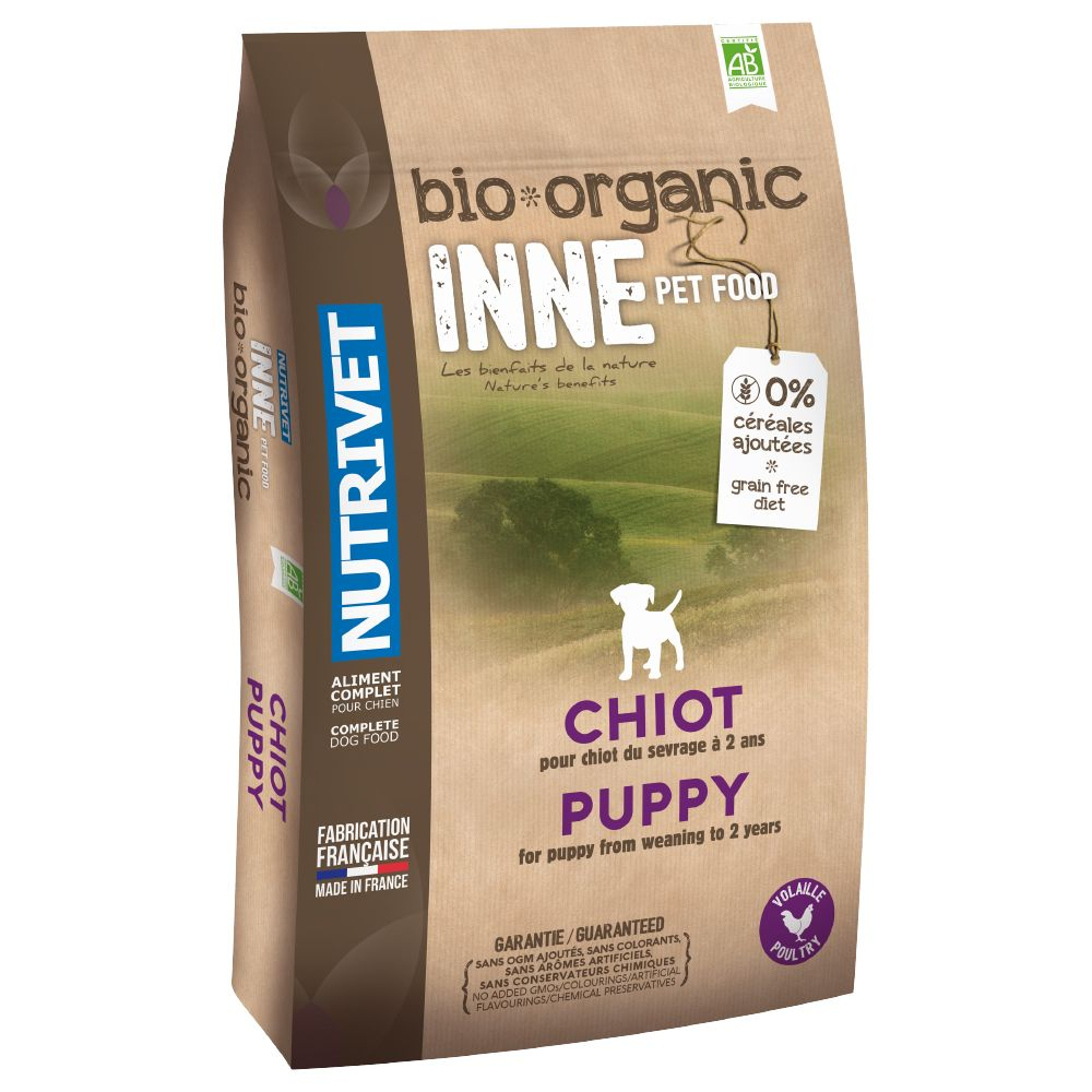 A balanced dry food for growing dogs, Nutrivet Inne Organic Dry Puppy Food is designed around the example set in nature. It contains a particularly high content of...